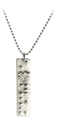 Braille I Love You Necklace