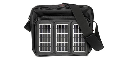 UncommonGoods: Magazine Detail :  solar panels tech messenger bag