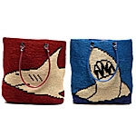 Shark Totes | Handmade Nylon Yarn Totes :  roomy handmade by artisans in india nylon yarn pool bag