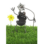 Gnome-Be-Gone | Handmade Metal Garden Sculptures :  uncommongoods metal sculpture funny silly