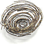 BRONZE BIRDS NEST | Stylish Metal Twig Replica Decorative Bowl for Keys, Potpourri | UncommonGoods :  uncommongoods birds nest home decor bronze birds nest metal twig decorative bowl