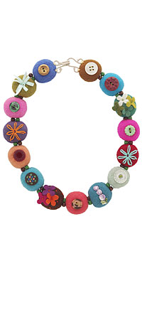 FLOWER FELT NECKLACE - UncommonGoods