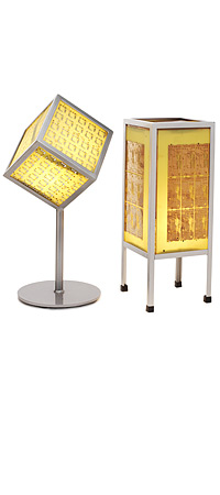 CIRCUIT BOARD LAMPS | Beautiful, Asian Paper Lamp Inspired, Recycled Circuit Board, Soft Glow Desk, Nightstand Lighting | UncommonGoods