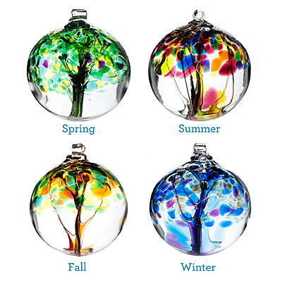 FOUR SEASONS GLASS GLOBES