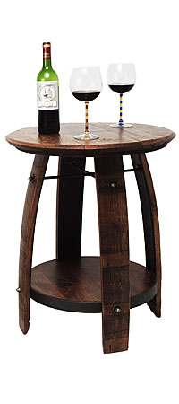 RECYCLED WINE BARREL SIDE TABLE - UncommonGoods