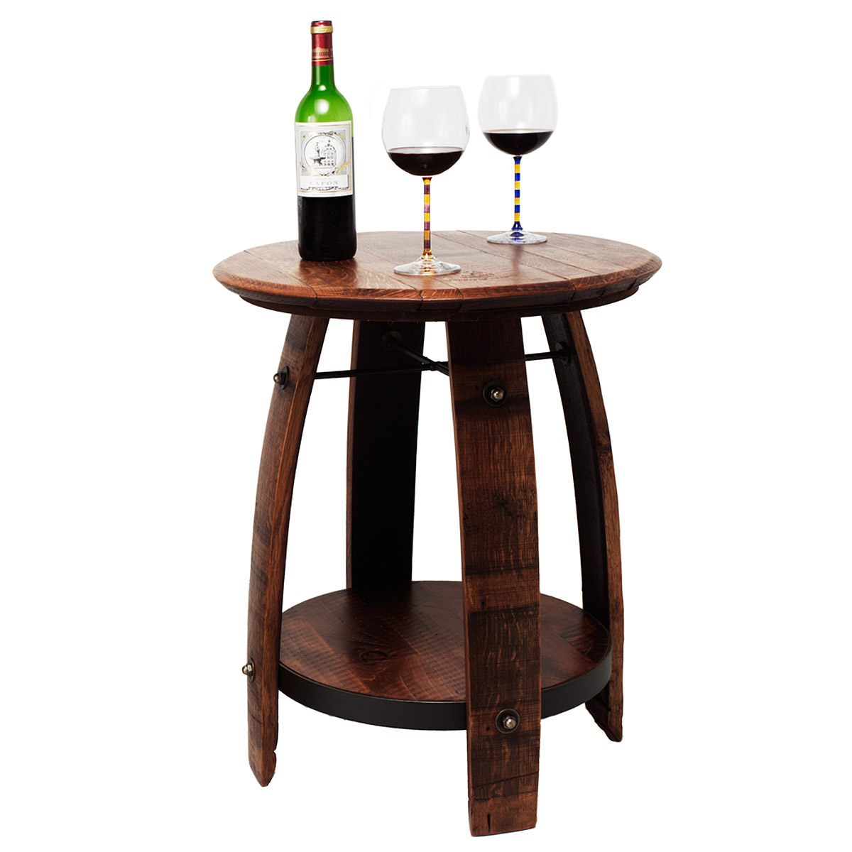 RECYCLED WINE BARREL SIDE TABLE  Recycled Wine Barrel Side Table is ...