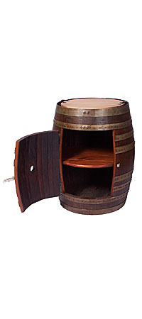 RECYCLED WINE BARREL SIDE CABINET - UncommonGoods