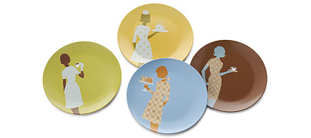 :: Adventures in the Stiletto Jungle ::: FOUND: Fashionista Food Plates :  dessert fashion plates kitchen