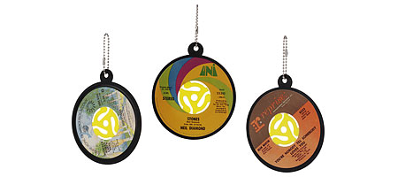 Recycled vinyl record ornaments