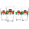HOUSE RULES FOOTBALL GLASSES - SET OF 4 | Football Pint Glasses Of Regulations And Rules With Referees | UncommonGoods :  glass football drink glasses drinking glasses