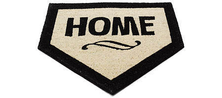 HOME PLATE MAT - UncommonGoods :  fan baseball door mat