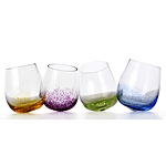Rocking Wine Glasses :  uncommongoods cool drink glasses rocking wine glasses