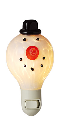 SNOWMAN NIGHT LIGHT - UncommonGoods :  uncommongoods snowman night light snowman