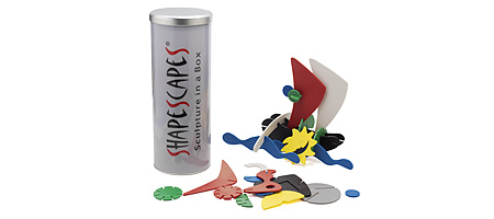 SHAPE SCAPES SCULPTURE SET - UncommonGoods :  uncommongoods toys building shape scapes