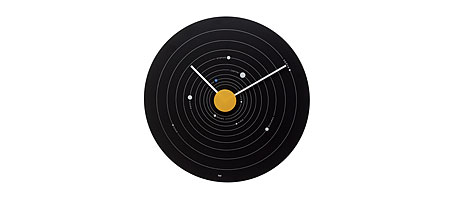 SOLAR SYSTEM WALL CLOCK - UncommonGoods :  uncommongoods solar system wall clock kids solar system