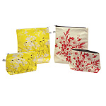 Flamingo and Flower Makeup Bags | Hand Printed, Stylish Cosmetic Pouches