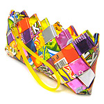 RECYCLED CANDY WRAPPER CLUTCH PURSE