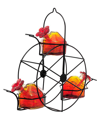 RED FERRIS WHEEL HUMMINGBIRD FEEDER