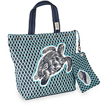 Sea Turtle Tote with Shell Pouch