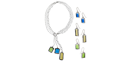 RECYCLED WINE BOTTLE JEWELRY | Recycled Glass Necklace and Earrings Made from Bottles | UncommonGoods