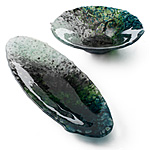 The Glass Forest | fused glass decorative serveware :  artistic decorative bowls brenda griffith home decor