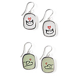 for pet lovers | UncommonGoods :  cat bed home accent banks earrings