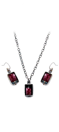 BURMESE RUBY JEWELRY | Red Jewel And Rustic Metal Earrings By Eric Silva | UncommonGoods