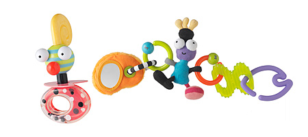 Chacha Buggy Rattle and Linki Teether