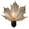 COPPER MAPLE LEAF NIGHT LIGHT | Real Sugar Maple Leaf Nightlight Dipped In Red Copper | UncommonGoods from uncommongoods.com