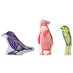 BIRD PILLOWS | Chat, Starling And Warbling Pillows With Hand-Printed Image | UncommonGoods :  uncommongoods silk screened image home accent fun