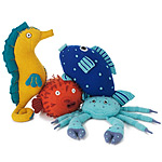 Sea Creature Pillows :  uncommongoods handmade in peru pillows soft