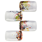 Roots and Shoots Melamine Plates :  fresh natural kitchen funky