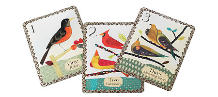 COUNTING BIRDS WALL ART CARDS | Audubon Inspired Large Wall Art Flash Cards Featuring Ten Birds | UncommonGoods :  counting art birds art cards