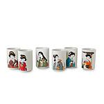 Geisha Teacups - Set of Six