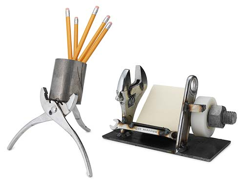 WRENCH DESK CADDY AND PLIERS PENCIL CUP