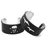 Skull and Bird Record Cuff Bracelets