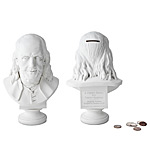 Ben Franklin Bust Bank :  uncommongoods saving unique funny