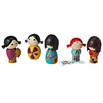 MOMIJI FRIENDSHIP DOLLS | Japanese Friendship Dolls Hold Secrets And Have Funky Personalites And Tokyo Style | UncommonGoods from uncommongoods.com