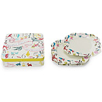 12 DAYS OF CHRISTMAS DINNER PLATES SET OF 4 Whimsical Modern Design Fresh Colors Vintage Images Christmas Tradition Holiday Dinnerware UncommonGoods from uncommongoods.com