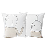 Heart On A Sleeve~ Organic Cotton Pillow :  pillow unusual mary and shelly klein heart on a sleeve