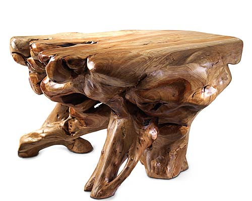 ORGANIC SHAPED WOOD TABLE