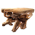 ORGANIC SHAPED WOOD TABLE | Fir Tree Root Tables Gnarled, Twisted, Handsome, Rugged, Rustic | UncommonGoods from uncommongoods.com