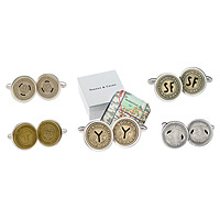 Subway Token Cufflinks