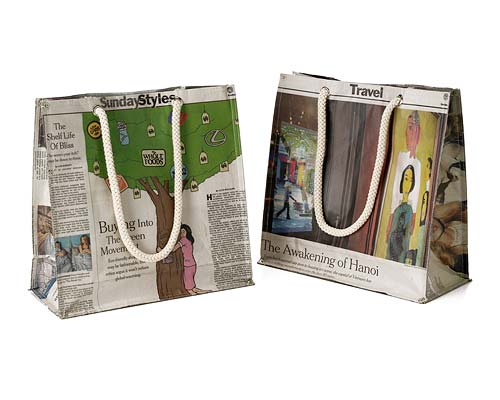RECYCLED NEWSPAPER MARKET BAG