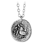 FORTUNE BIRD NECKLACE | Mindy And Grant Searcey Lucky Birds Coins From Heaven Tibetan Sterling Silver Necklace | UncommonGoods