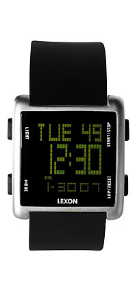SKY WATCH | Modern Digital Watch For Men With Green LCD | UncommonGoods from uncommongoods.com