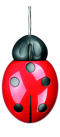 OPTICAL COMPUTER MOUSE - LADYBUG | Black And Red Lady Bug Mice For PC or Mac Computers - Kids, Teens, Adults Fun Gift For Desk Or Office | UncommonGoods
