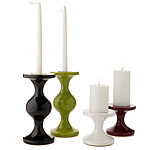 TAPER & PILLAR CANDLE HOLDERS | White, Plum And Olive J Schatz This And That Candleholders For Tapered Or Wide Candles - Glossy, Brilliant, Modern, Urban, Handmade, Design, Sophisticated | UncommonGoo