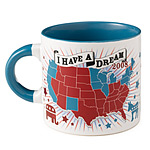 DEMOCRATIC 'I HAVE A DREAM' MUG | Democratic Blues I Have A Dream 2008 Mug Turns The Red States Blue When Hot Drink Is Poured In | UncommonGoods from uncommongoods.com