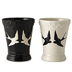 SWALLOW CUP | Birds In Flight, Black and White Cups, Porcelain, Pretty, Romantic Style, Charming, Whimsical Style, Toothbrush Holder, Pen Cup, Coin Cup, Drinking Glass, Mug | UncommonGoods